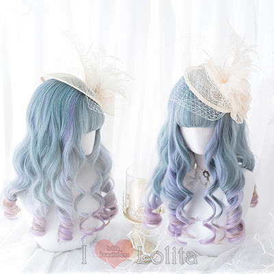 Japanese fashion harajuku kawaii long curly wigs daily wigs lk19041711