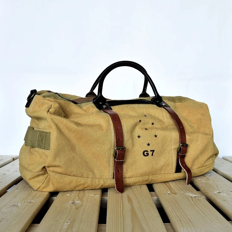 Waxed Canvas Duffle Bag \/ Weekend Bag \/ Duffel Bag Men \/ Men Duffle Bag \/ Weekender Bag