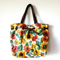 Sunflower Drawstring Tote - Mother's Day Special - Was $65 Now $49