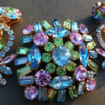 Brooch and Earrings Made in Austria Demi Parure