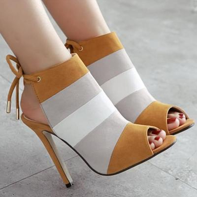Slingback fashion women peep toe high heels shoes g-2978