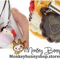 Hello Kitty Re-ment macaron cupcake cake phone charm