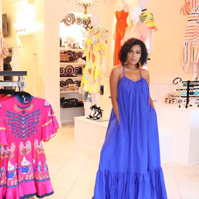 Ghana dreaming maxi royal blue