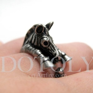 Miniature Zebra Ring Sizes in Silver 5 to 9 available