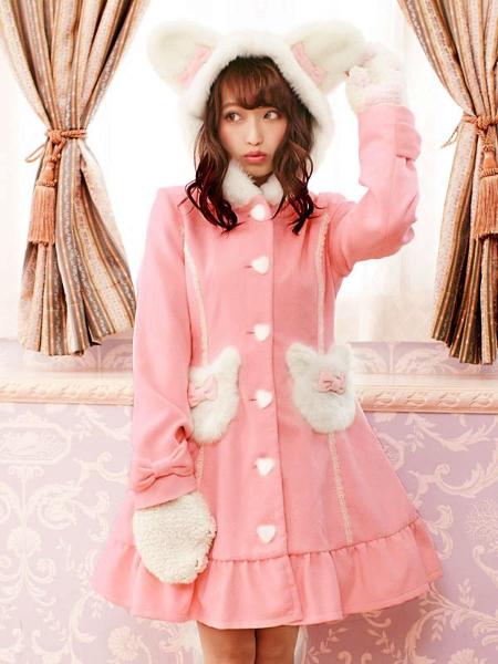 Bunny Pockets Kawaii Woolen Winter Coat · KoKo Fashion · Online Store Powered by Storenvy