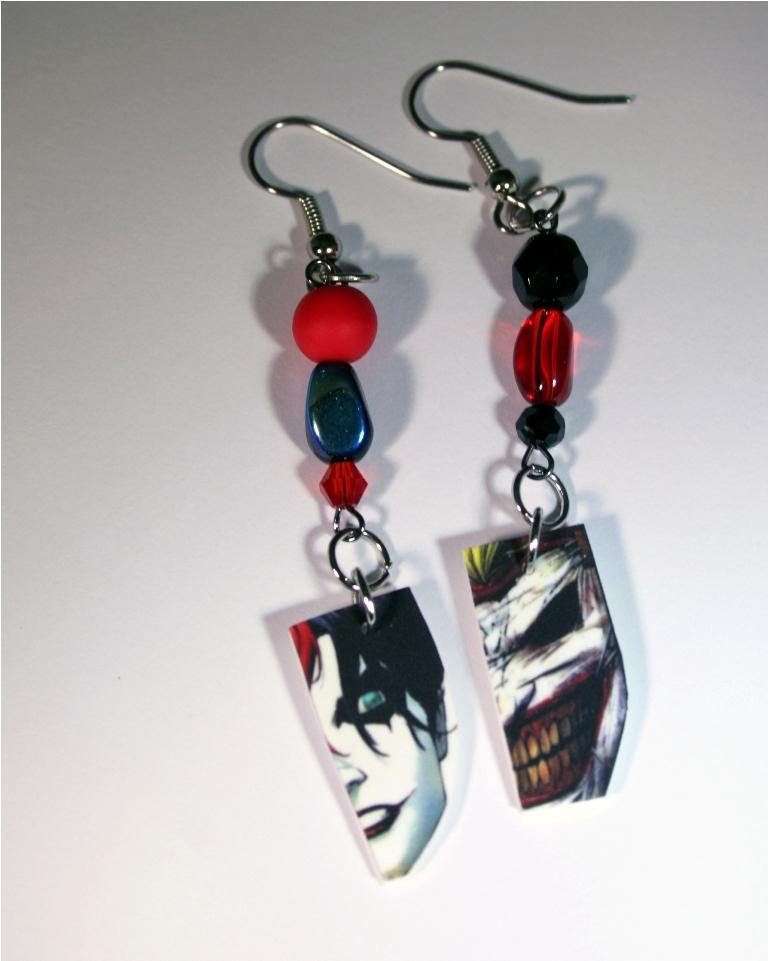 Harley quinn joker earrings nerdy robots online store for Harley quinn and joker jewelry