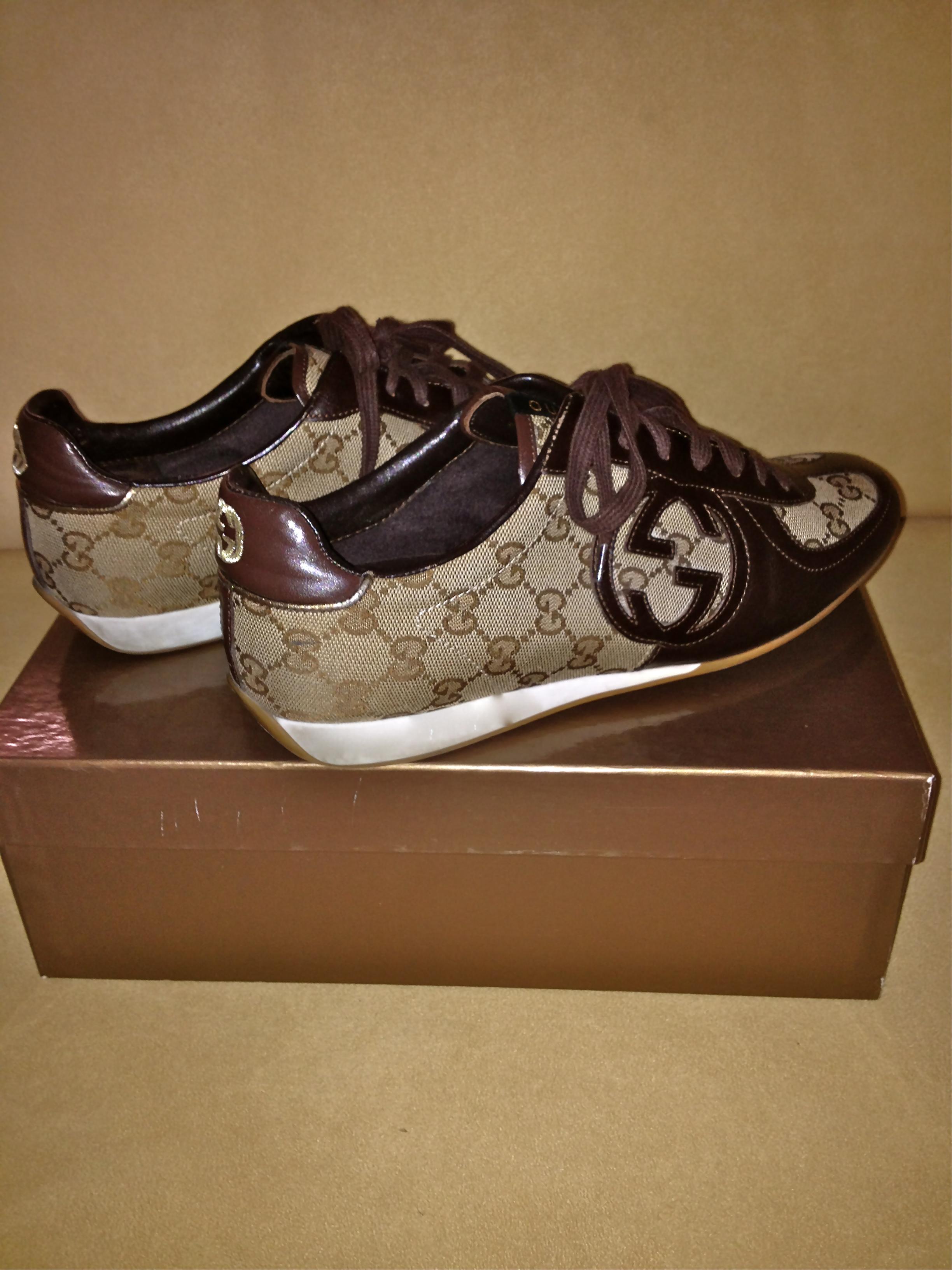 Shop Posh Closet Gucci Tennis Shoes Sz Us Size 9
