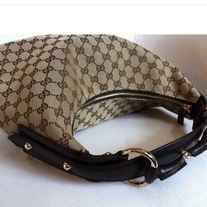 Gucci Monogram Classic Horsebit Hobo Chain Bag! Amazing Condition!