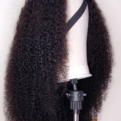 natural looking 200% density handmade human hair wig (gloria curls wig)
