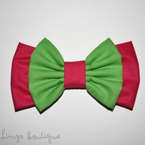 Watermelon Double Bow