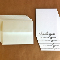 hotel thank you // set of 6