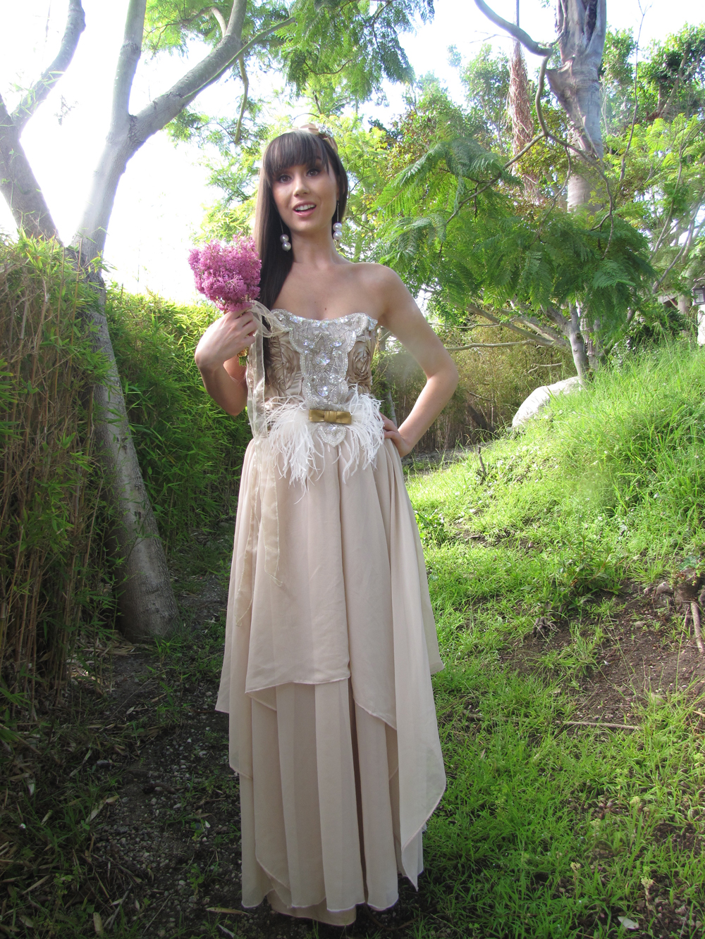 ECO Country Chic Couture Whimsical Wedding Dress CGheaven Bridesmaid Dresses Online Store