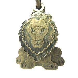 Lion Shaped Three Part Dangle Earrings in Brass