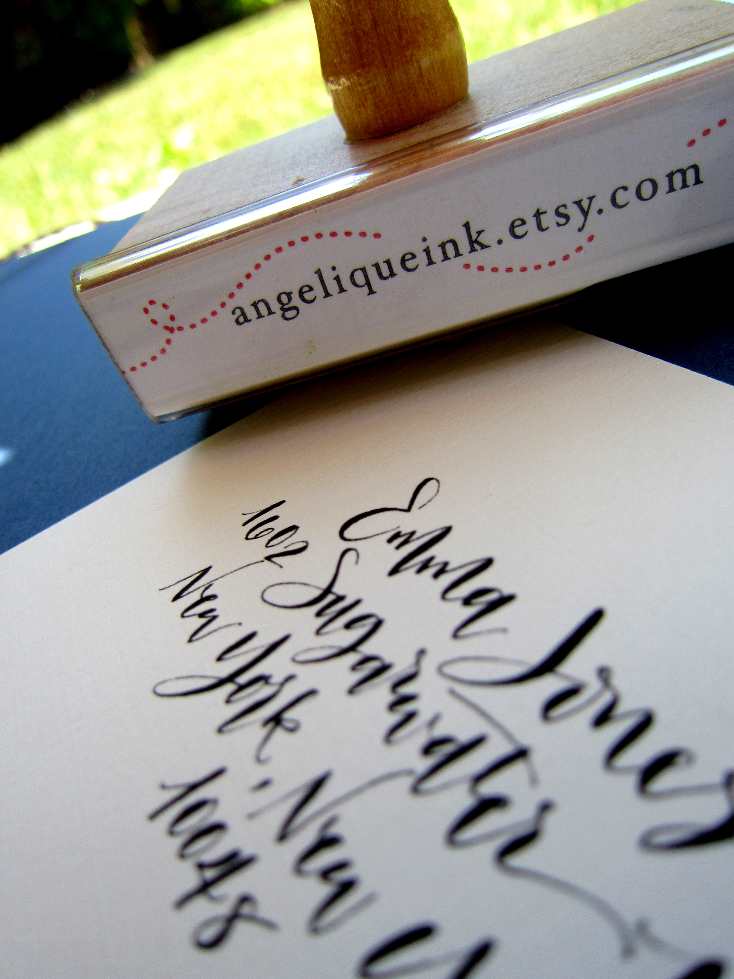 Custom Calligraphy Address Stamp Rebel Stout Style All