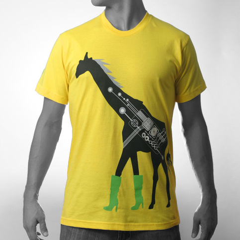 Men's Fashionista Giraffe - Yellow