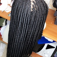 Handmade Closure Box Braids Wig  - Thumbnail 1