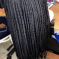 Handmade Closure Box Braids Wig  - Thumbnail 4