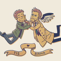 Destiel Pie & Burger Print