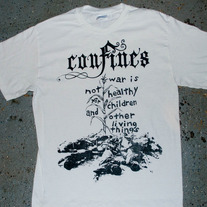 Confines - 'War is not healthy' T-shirt