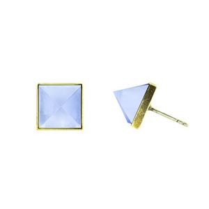 CLEOPATRA STUDS EARRINGS - CHALCEDONY