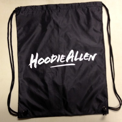 Hoodie allen black cinch bag