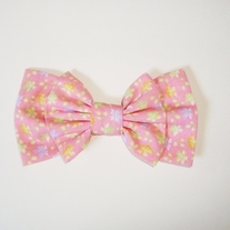 Blushing Pink Pastel Floral Double Bow