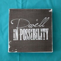 Subway Art Wall Hanging Canvas - Dwell in Possibility