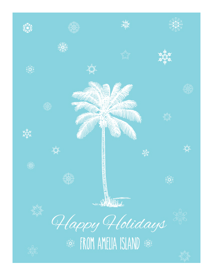 blue christmas palm tree card thumbnail 1 - Christmas Palm Tree