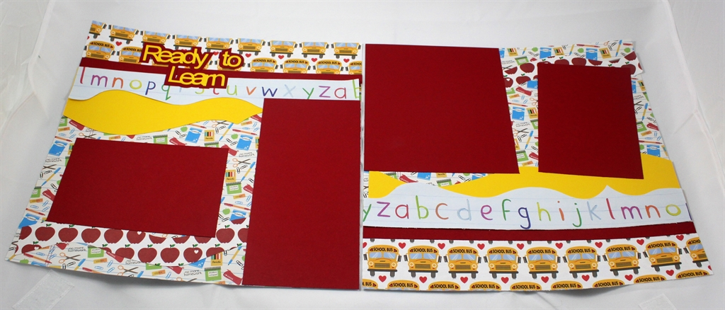Ready To Learn 2 Page 12x12 Scrapbook Page Kit 183 Dazzle