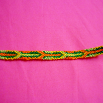 Citrus Inspired Braided Friendship Bracelet