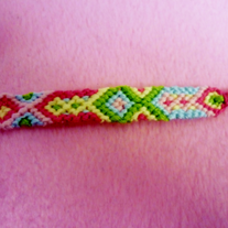Big and Small Diamonds Braided Friendship Bracelet