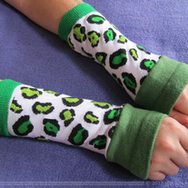 Green Cheeta Arm Warmers
