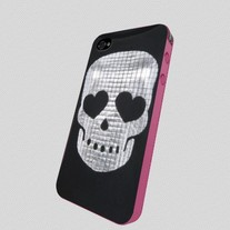 New Sweet Hearts Skull Printed Type iPhone 4/4S Case