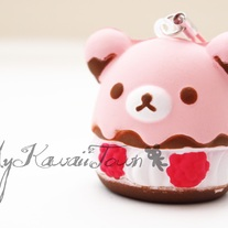 Squishy Strawberry Rilakkuma Creampuff