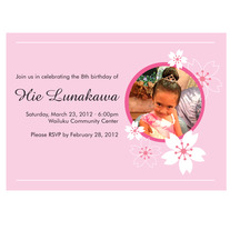 printable birthday invitation | sakura