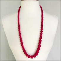 Large Magenta Bead Necklace