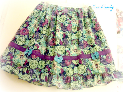 Purple flower skirt