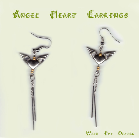 Winged Heart Earrings
