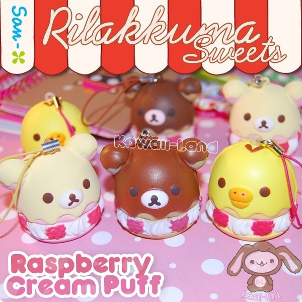 Rilakkuma-sweets-raspberry-cream-puff-charms_original