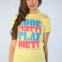 The Look Pretty Play Dirty Tee in Lemon