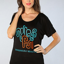 The Endless Fun Oversized Tee in Black