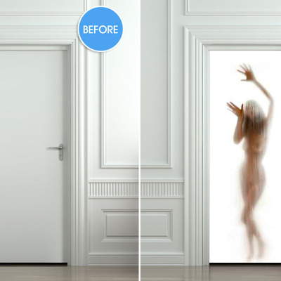 Wall Door STICKER woman shower cubicle bathroom mural decole film self-adhesive poster 30x79 (77x200cm) / · Pulaton · Online Store Powered by Storenvy & Wall Door STICKER woman shower cubicle bathroom mural decole film ...