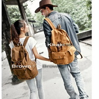 Fantastic multi pockets canvas backpack unisex - Thumbnail 3