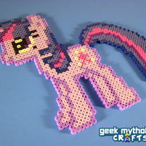 Twilight Sparkle My Little Pony Perler Bead Sprite