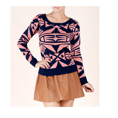 Pink tribal sweater