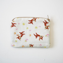 Bubble Deer Zip Pouch
