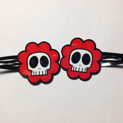 NEW: Creepy Hair Clips (pair)
