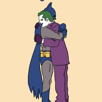 Batman and Joker forgiveness, 5x7 print
