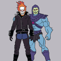 Ghost Rider and Skeletor are best friends, 5x7 print
