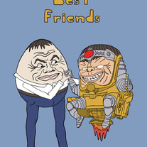 Modok and Humpty Dumpty are best friends, 5x7 print